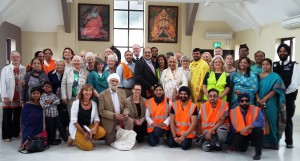 Group photo at Hindu temple 2017