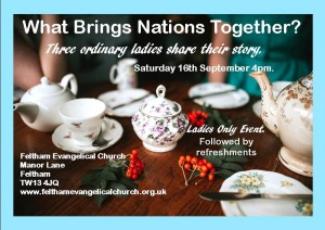 Three Christian Ladies event flyer 16 Sept 2017